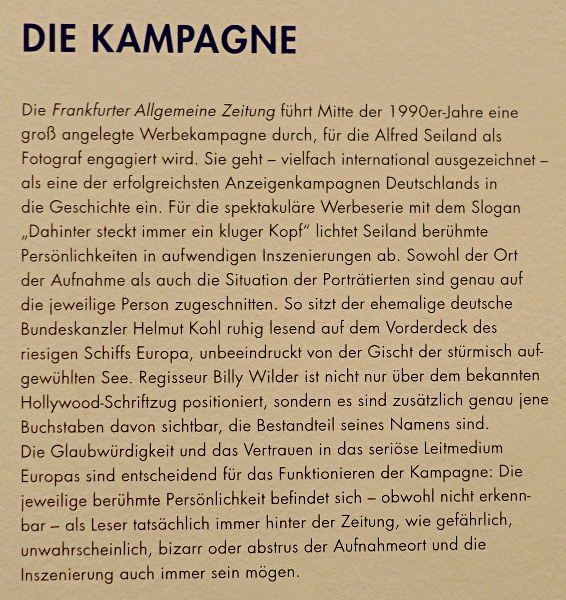 Alfred Seiland: FAZ-Kampagne