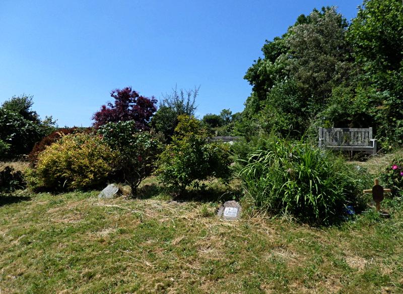 Ein kleiner Friedhof zwischen Feldern