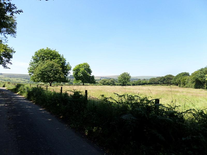 Die Hügeln am Horizont gehören bereits zu Dartmoor