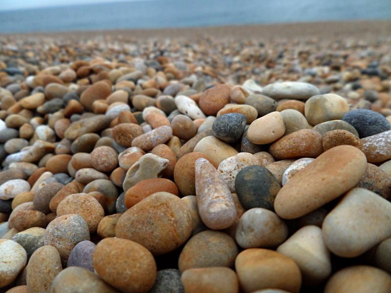 Kiesel am Chesil Beach