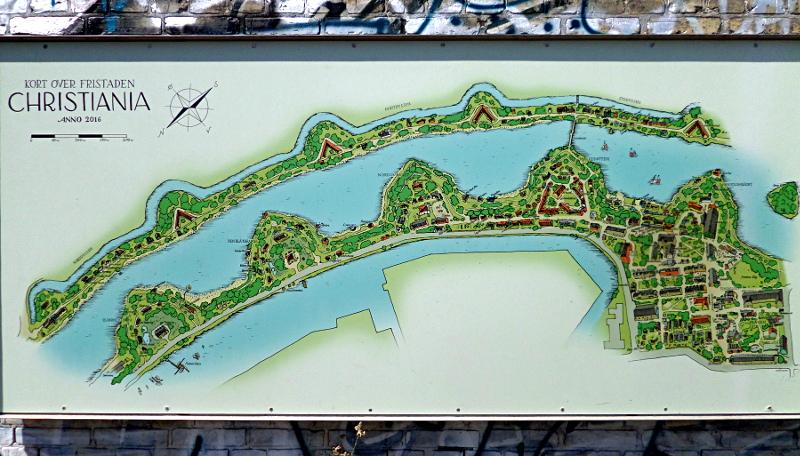 Plan von Christiania