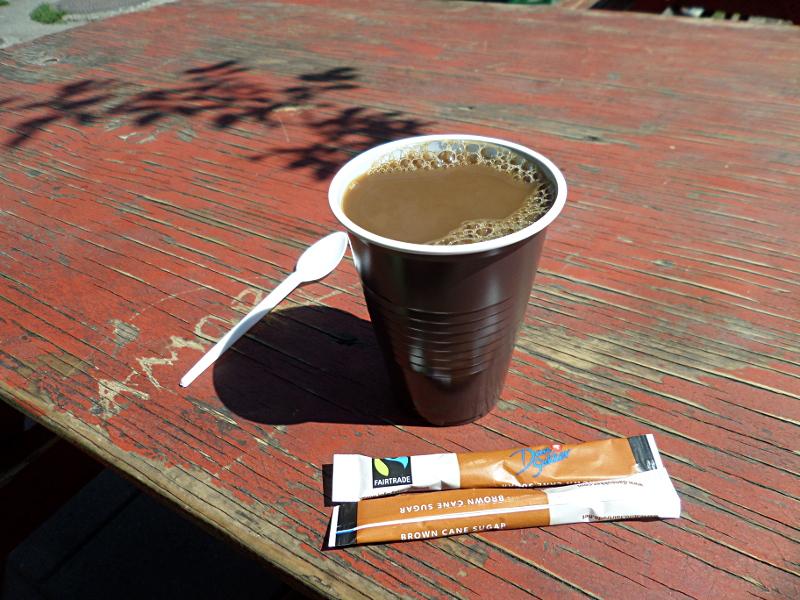 Kaffee im Plastikbecher :-(