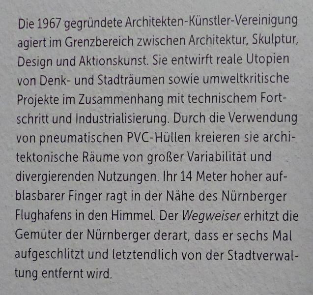 Haus-Rucker-Co: Wegweiser für Nürnberg