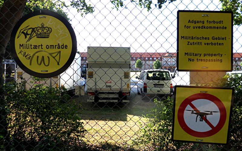 Rosenborg Schloßgarten: angrenzendes Militärgebiet mit Drohnenverbot