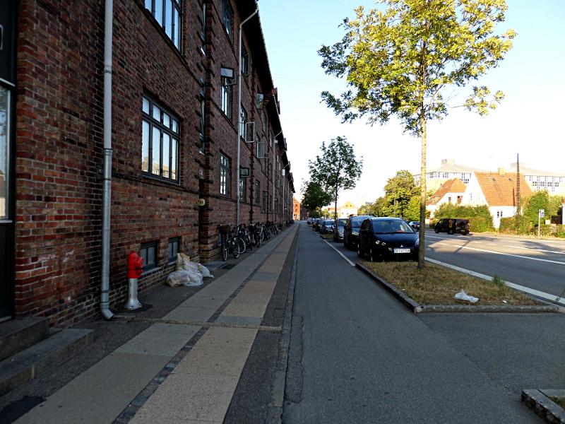Verkehrsflächenaufteilung in Kopenhagen