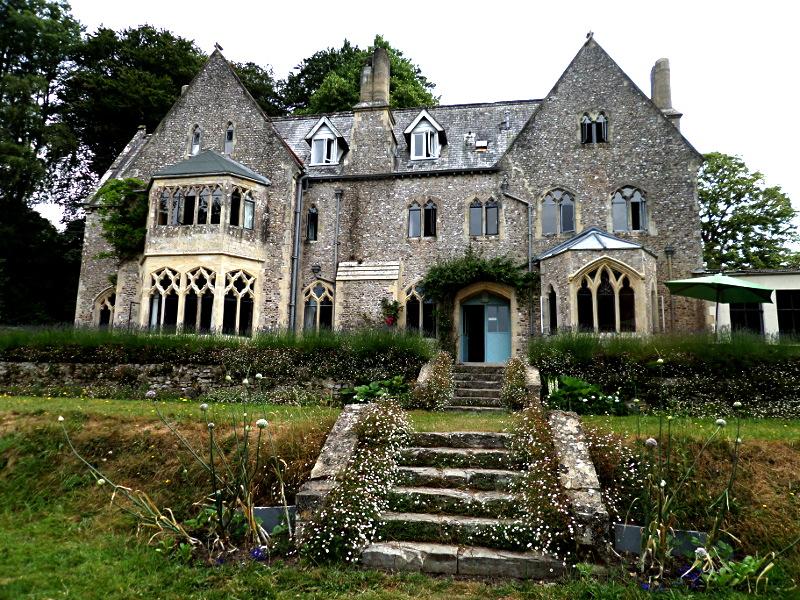 Gartenansicht von Monkton Wyld Court