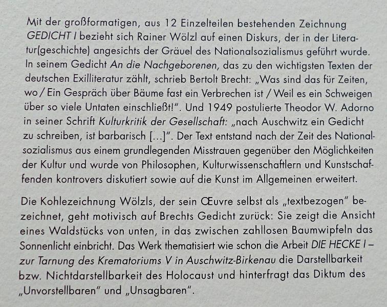 Über Rainer Wölzls Gedicht I