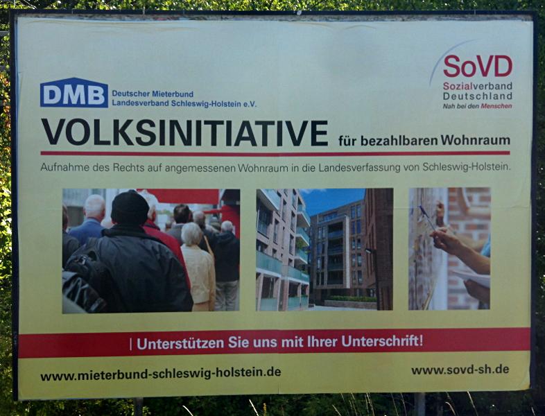 Volksinitative in Schleswig