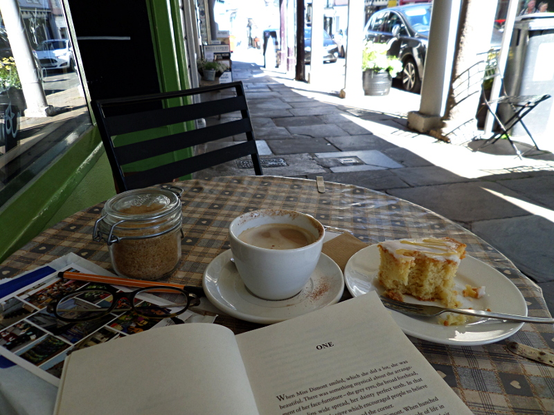 Coffee & Lemon Drizzled Cake in Totnes, High Street