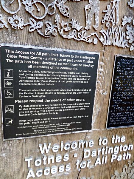 All Access Path von Totnes nach Dartington