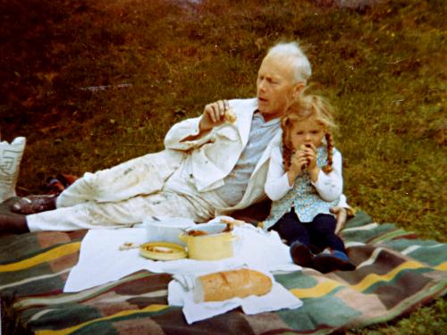 Mittagspause mit meinem Vater, dem Malermeister